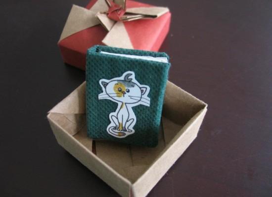 Minyatür Kedimiyo kitabı yeni sahibini buldu.